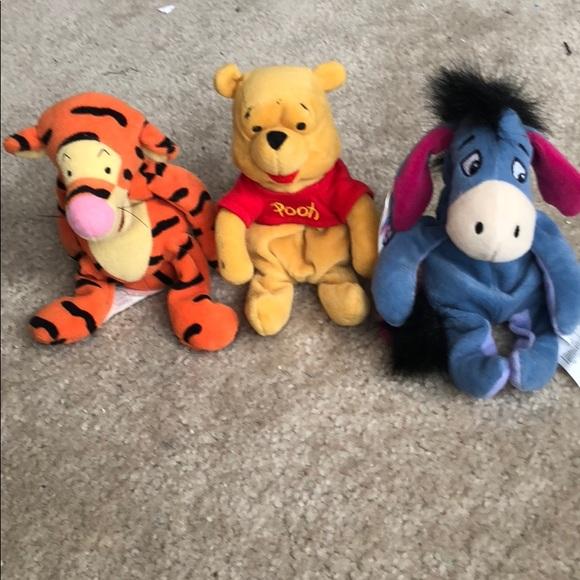 Winnie Pooh tigger eeyore beanie plush collectors 1fefcb275ed